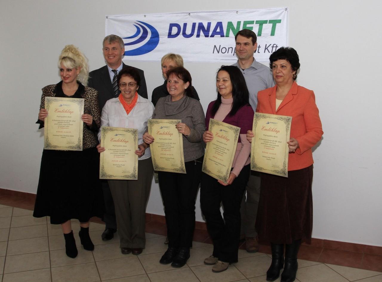 2016. őszi papírgyűjtési kampány - díjátadó